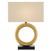 This item: Kirkos Painted Gold and Glossy Black One-Light Table Lamp