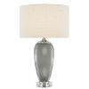 This item: Polydore Dark Gray White Polished Nickel One-Light Table Lamp