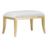 This item: Garson Muslin and Antique Gold Ottoman