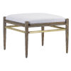 This item: Visby Light Pepper and Brushed Brass Muslin Ottoman