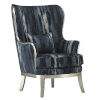 This item: Veronica Indigo and Harlow Silver Chair