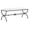 This item: Agora Muslin and Rustic Bronze Bench