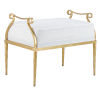 This item: Genevieve Muslin and Grecian Gold Ottoman