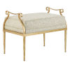 This item: Genevieve Dust and Grecian Gold Ottoman
