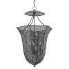 This item: Obidah Mole Black Three-Light Lantern Chandelier
