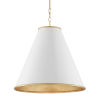 This item: Pierrepont Gesso White and Gold One-Light 22-Inch Pendant
