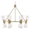 This item: Quennell Antique Brass 12-Light Chandelier