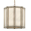 This item: Daze Antique Brass and White One-Light Pendant
