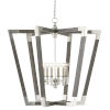 This item: Bastian Chateau Gray and Silver Six-Light Chandelier