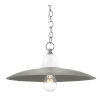 This item: Eastleigh Hiroshi Gray and White One-Light Pendant