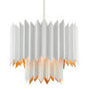 This item: Syrie Sugar White and Gold Five-Light Chandelier