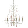 This item: Primevere Silver and Natural Pink Six-Light Chandelier
