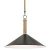 This item: Ocracoke Sugar White and Blacksmith One-Light Pendant