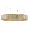 This item: Tetterby Light Taupe and Smokewood Natural Bamboo Six-Light Chandelier