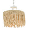 This item: Samoa Gesso White and Abaca Rope One-Light Pendant