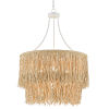 This item: Samoa Gesso White and Abaca Rope Four-Light Chandelier