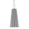 This item: Orator Black White Polished Nickel One-Light Mini-Pendant