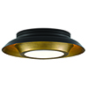 This item: Metaphor Painted Antique Brass and Painted Black Three-Light Flush Mount