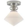 This item: Rycroft Polished Nickel and White One-Light Flush Mount