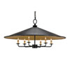 This item: Brussels French Black & Contemporary Gold Leaf Six-Light Pendant