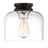 This item: Ezra Black One-Light Flush Mount