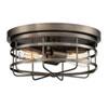 This item: Anson Satin Copper Bronze Two-Light Flush Mount
