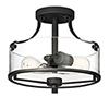 This item: Jedrek Black Two-Light Semi-Flush