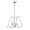 This item: Rhode Coastal Weathered White Four-Light Chandelier