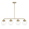 This item: Knoll Brushed Gold Four-Light Island Pendant with Clear Glass