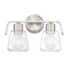 This item: Riley Satin Platinum Two-Light Bath Vanity