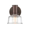 This item: Carson Satin Copper Bronze One-Light Wall Sconce with Clear Glass