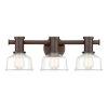 This item: Carson Satin Copper Bronze Three-Light Bath Vanity