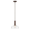 This item: Carson Satin Copper Bronze One-Light Pendant with Clear Glass