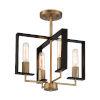 This item: Chicago PM Old Satin Brass Four-Light Semi-Flush Mount