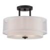 This item: Fusion Biscayne Bronze Two-Light Semi-Flush