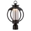 This item: Arbor Burnished Bronze 9-Inch Wide LED Outdoor Post Lantern