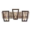 This item: Zag Dark Oak and Whitewash Three-Light Bath Vanity