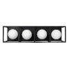 This item: Plaza Carbon And Havana Gold Four-Light LED ADA Bath Vanity