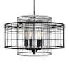 This item: Vivienne Black and Gray 17-Inch Four-Light Round Pendant
