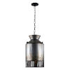 This item: Hickory Lane Ombre Galvanized and Black One-Light Pendant