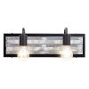 This item: Abbey Rose Black and Galvanized Two-Light Bath Vanity
