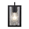 This item: Abbey Rose Black and Galvanized One-Light Sconce