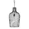 This item: Elsa Black 12-Inch One-Light Wine Bottle Pendant