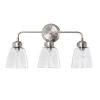 This item: Helena Satin Nickel Three-Light Bath Vanity