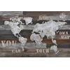 This item: Wanderlust Multicolor Rustic World Map