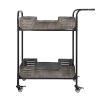 This item: Casa Black Weathered And Galvanized Bar Cart