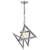 This item: Overrule Brushed Silver Coffee Bronze One-Light Abstract Pendant