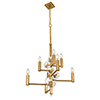 This item: Engeared Antiqued Gold Leaf Eight-Light Chandelier