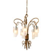 This item: SoHo Five-Light Chandelier in Hammered Ore with Brown Tint Ice Glass