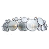 This item: Fascination Nevada Recycled Steel and Glass Two-Light Bath Fixture